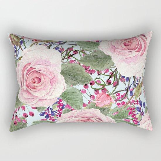 Watercolor Roses #2 Rectangular Pillow