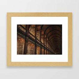 Dublin Trinity College's library Framed Art Print