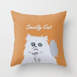 Smelly Cat Art Work Throw Pillow