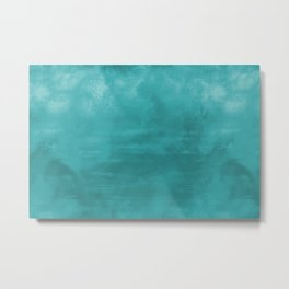 Aqua Teal Turquoise Burst of Color Abstract Watercolor Blend - Aquarium SW 6767 Metal Print