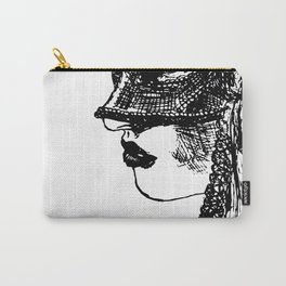 Girl wearing mask Carry-All Pouch