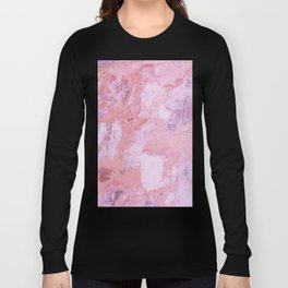 Cracked Pink Marble Long Sleeve T-shirt