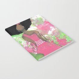 Dripping Pink and Green Angel Notebook