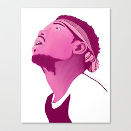 Chance The Rapper; Pink Canvas Print