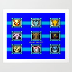 Stage Select Art Print