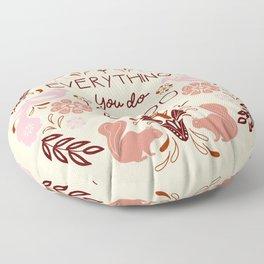Everything you do, I can do bleeding: retro Feminist quote print Floor Pillow