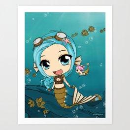SeaGears - Mechanical Fish Art Print