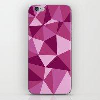 Pink Geometric iPhone & iPod Skin