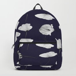 Poppies pattern on dark blue Backpack