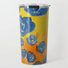 Blue Rose Fall Travel Mug