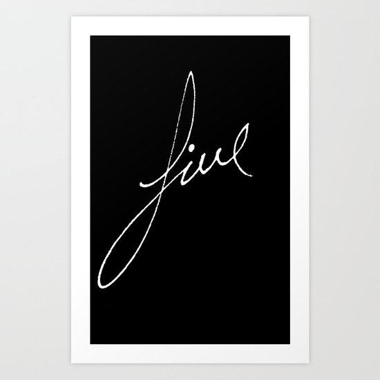 Simple White Art Print