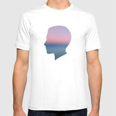 Head in the Clouds White Mens Fitted Tee SMALL