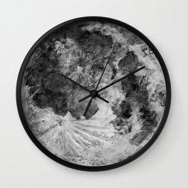 Watercolour Moon (Canvas) Wall Clock