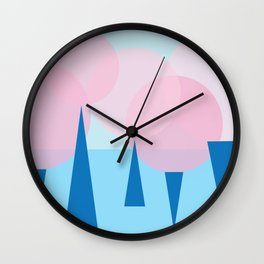 Roze Forest Wall Clock
