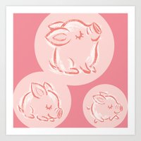 pig Art Prints featuring Pig by Toru Sanogawa