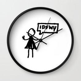 """""""IDFWY"""" Wall Clock"""