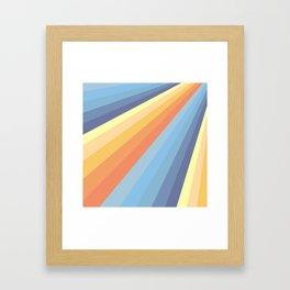 Classic Colorful Abstract Minimal Retro Style Stripe Rays Gerahmter Kunstdruck