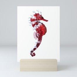 RED SEAHORSE Mini Art Print