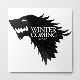 WinterIsComing Metal Print