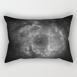 Stars and Space Dust B&W Rectangular Pillow