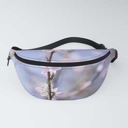 Plum Flower Blossom Pink and Blue Fanny Pack