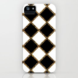 Geometric ornament gold seamless pattern iPhone Case
