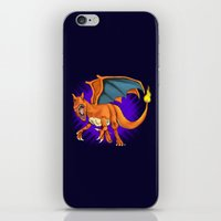 charizard iPhone & iPod Skins featuring Charizard by Aliece Carney
