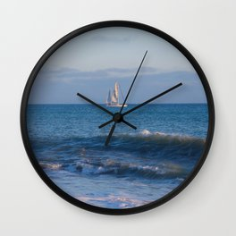 Lets Go Sailing Wall Clock