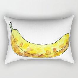 Watercolor Bananna Rectangular Pillow