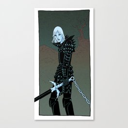 Cursed Knight Canvas Print