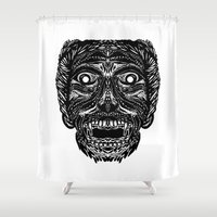 dracula Shower Curtains featuring Dracula by Jamie Bryan