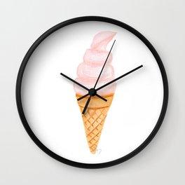 I Love Ice cream, Yummy! Wall Clock