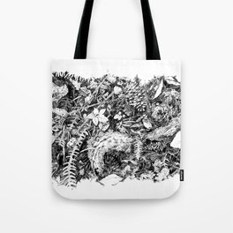 Inky Undergrowth Tote Bag
