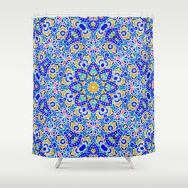 Arabesque kaleidoscopic Mosaic G512 Shower Curtain