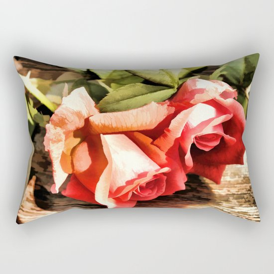 Timeless Tropicana Roses Rectangular Pillow