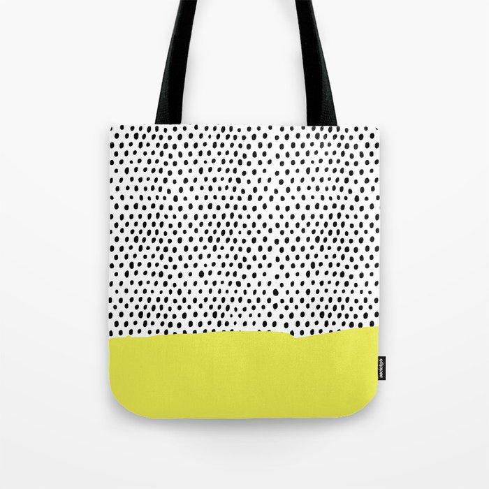 Polka dot rain dip Tote Bag