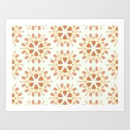 Gold snowflake pattern Art Print