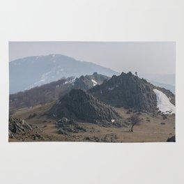 Old mountains landscape Rug