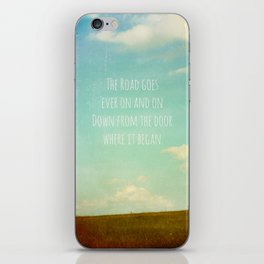 the road goes ever on iPhone Skin