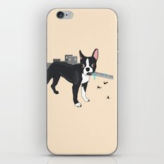 Attack of the Colossal Boston Terrier!!! iPhone & iPod Skin
