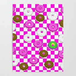 A King Cake Donut Poster