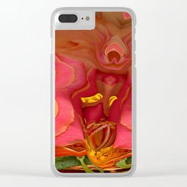 Rose Scramble Clear iPhone Case