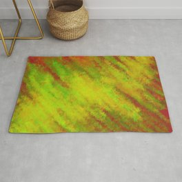 Chartreuse Gold Glow Breaking Through Coral    Rug