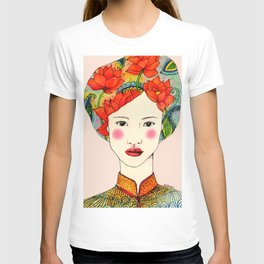lotus girl T-shirt