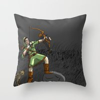 archer Throw Pillows featuring Archer the archer by YassirM