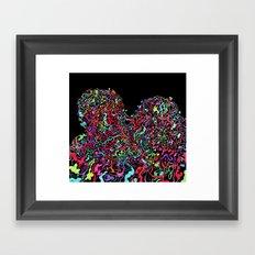 Junk Hearts Framed Art Print