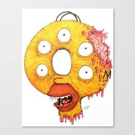 Donut Head Canvas Print