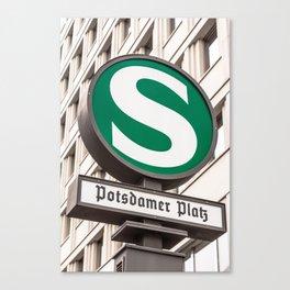 Potsdamer Platz urban and suburban railway station Berlin Canvas Print