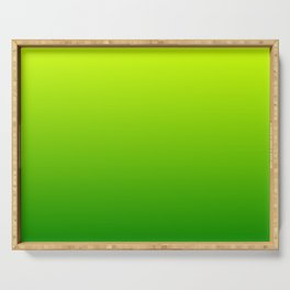 Bright Chartreuse Green Ombre Serving Tray