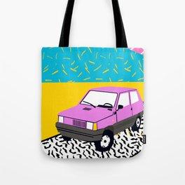 Amped - throwback 80s memphis vintage cars sunset socal california beach life Tote Bag